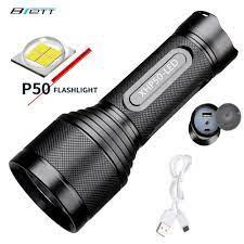 Led CREE XHP50 XHP70 Tích Hợp pin lithium 32650 USB sạc trực tiếp Công Suất  Ngân Hàng Ngoài Trời Mạnh Mẽ sáng|LED Flashlights