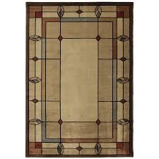 mohawk home leaf point brown indoor area rug common 8 x 10 actual