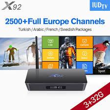 X92 French <b>Box</b> Android 6.0 3G S912 IUDTV Code <b>IPTV</b> ...