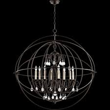 cilia 8 light 40 large oiled bronze orb chandelier