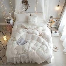 girls bedding cream white grey princess girls bedding set king queen twin size thick fleece duvet