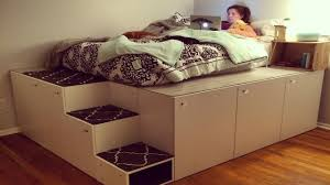 high platform beds with storage. Ikea Hack Platform Bed Diy And With Storage High Beds A