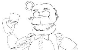 Fnaf Coloring Pages Nightmare Sheets Mangle Sister Location