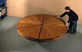 expanding round table. Round Table That Expands Yacht Capstan Transforming Expanding Dining Expandable Legs . F