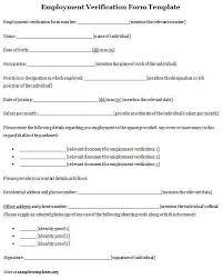 Sample Employment Verification Form Sarahepps Com