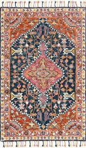 pink orange rug hot pink and orange area rug