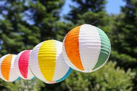 Beach Ball Decoration Ideas Start Summer with DIY Beach Ball Paper Lanterns Evite 47