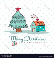 New Home Cartoon Images Christmas And New Year Cozy Holiday Home Cartoon
