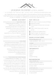 Free Professional Estate Agent Or Property Themed Cv Template In