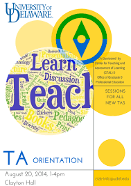 ta orientation center for teaching and assessment of learning graduate ta orientation