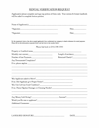 Rental Verification Form 24 Rental Verification Forms for Landlord or Tenant Template Archive 1