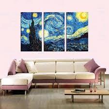 canvas wall paintings starry night van multi panel canvas wall art canvas wall art nature