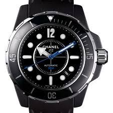 chanel wristwatches chanel j12 marine h2558 black ceramic 42mm mens automatic watch rubber strap