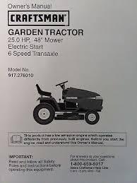 sears craftsman gt5000 garden tractor