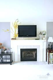 tv over fireplace ideas fireplace design