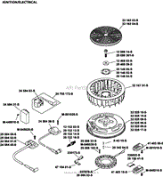 kohler sv735 0016 husqvarna 26 hp 19 4 kw parts diagram for ignition charging group 5 32 20