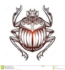 скарабей 2 татуировки иллюстрация штока иллюстрации насчитывающей