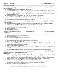plumber resume sample automotive mechanic welder construction foreman ...