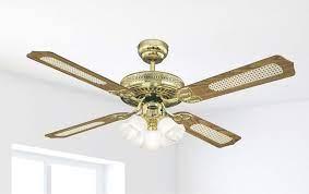 ceiling fan monarch trio brass 132cm