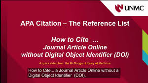 Apa How To Cite Journal Article Without Doi