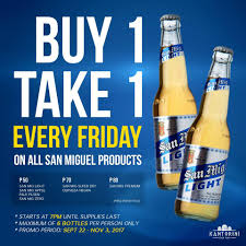 Suggested Retail Price Of San Mig Light San Miguel Beer Promo