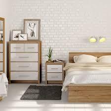 Wonderful Bedroom Furniture White And Oak
