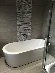 Orchard Wharfe freestanding bath. Grey Tile BathroomsDark ...