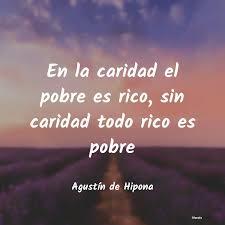 Agustín de Hipona: En la caridad el pobre es rico