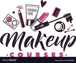 makeup courses logo of vector image