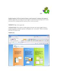 Word Origins Website Annotated English Technology Resources