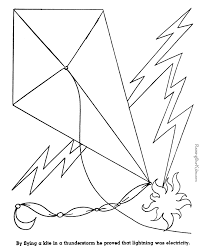 Small Picture Benjamin Franklin kite coloring page 015