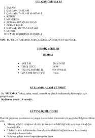 SÜTUNLU MATKAP MODEL RTM613 TANITMA VE KULLANIM KLAVUZU - PDF Free Download