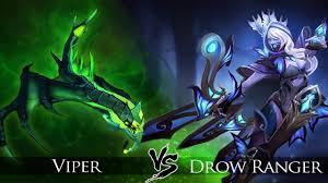 dota 2 drow ranger vs viper one click battle youtube