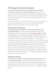 persuade essay writing persuasive essaysdoc persuasion essays