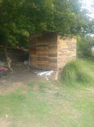 pallet shed. thank you . inspired me to create my own pallet shed. shed