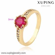 Ruby Stone Gold Ring Design 11592 Xuping 14k Gold Natural Ruby Gemstone Insert Designed Copper Ring For Women Buy Gold Rings Design For Women Copper Rings For Women Natural