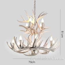 pure white deer antler chandelier 8 4 two tiers 12 candle style pendant lights