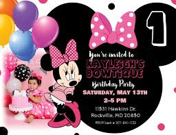 Free Minnie Mouse Birthday Invitations Minnie Mouse Birthday Invitation Template Postermywall