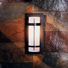 wall sconce lighting ideas. Hubbardton Forge With Banded LED Outdoor Wall Sconce Lighting In Patio Design As Ideas
