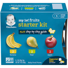 Gerber Feeding Chart For 6 Month Old Starting Solids Bundle 1st Foods The Gerber Store
