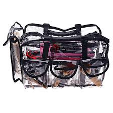 amazon shany cosmetics clear makeup bag pro mua round bag with shoulder strap large beauty