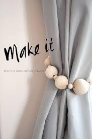 make it beautiful wooden curtain tie backs