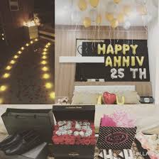 Wedding Bedroom Decorations 25th Wedding Anniversary Decoration Bedroom Suprise For