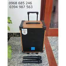 Loa kéo karaoke mini AZPro AZ 8 bluetooth 2 mic Loa kẹo kéo di động thùng  gỗ giá tốt hơn jbz jbl giá cạnh tranh