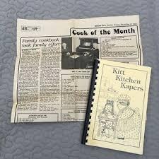 Church Genealogy Details About Kitt Family History Vintage Cookbook Genealogy Church Style Spiral Bound