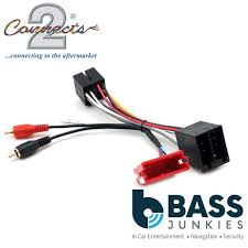connects2 ct20au10 audi a3 a4 a6 tt bose rear amplified rca bypass car stereo harness lead