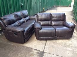 brown leather sofa sets. Beautiful Leather HARVEYS Oberon Brown LEATHER RECLINING 3 And 2 Seater Sofa Set Ex DISPLAY  Model In Leather Sofa Sets