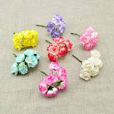 com buy pcs cheap artificial flower paper gradient 6pcs cheap artificial flower paper gradient roses diy bridal wreaths for wedding bouquet candy gift box