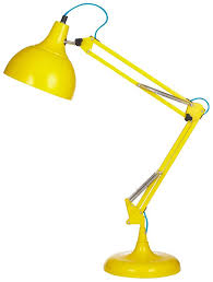 acid yellow desk lamp