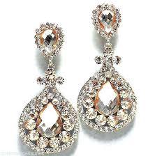 clip on earrings chandelier pageant earrings chandelier huge crystal champagne chandelier clip on earrings 3 1 clip on earrings chandelier
